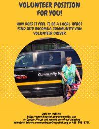 Community Van Volunteer Driver